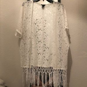 White lace cardigan/cover up